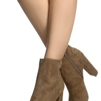 Taupe Faux Suede Chunky Open Toe Booties @ Cicihot. Booties spell style, so if you want to show what you're made of, pick up a pair. Have fun experimenting with all we have to offer!