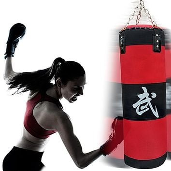 70cm sandbag EMPTY Training Fitness MMA Boxing Bag Hook Hanging Kick Fight Bag Sand Punch Punching Bag Sandbag free shipping