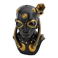 Park Avenue Collection Steampunk Apocalypse Gas Mask Statue