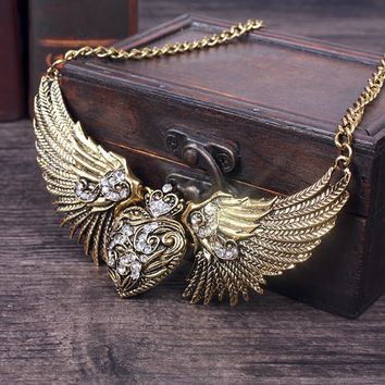 New Free Shipping fashion casual Men's male WOMAN female Angel Poirot Collar Necklace tie cowboy retro American couple