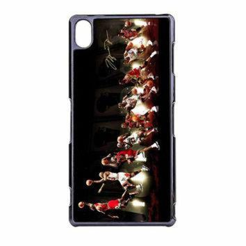 DCKL9 Michael Jordan NBA Chicago Bulls Dunk Sony Xperia Z3 Case