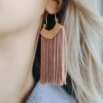 SPEAK EASY EARRINGS - CHAMPAGNE