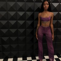 Sheer Lux Pant set from Teanna Wiley Collection