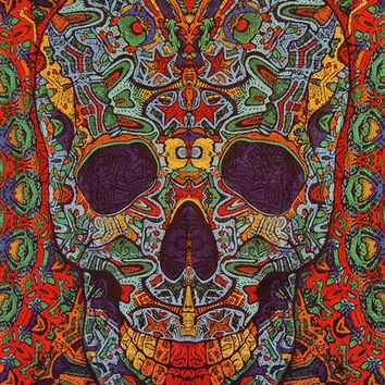 3D Sugar Skull Tapestry 100% cotton Tapestry