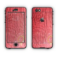 The Red-Wood with Yellow Knot Apple iPhone 6 Plus LifeProof Nuud Case Skin Set