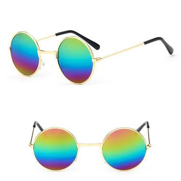 Kid Vintage Round Sunglass baby boy girl child Gradient Lenses Fashion Goggles Hippie Shades uv400 sunglass small frame sunglass