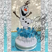 Olaf Stand Frozen Party - Lollipops or Cakepops Stand - Olaf Frozen Inspired - Olaf Snowman - Olaf