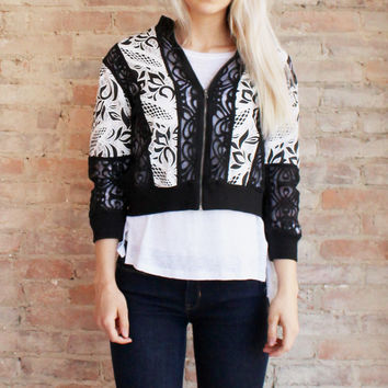 TAKE ME OUT LACE JACKET