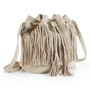Fringe Bucket Bag