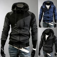 Mens Sports Zip-Up Hoodie