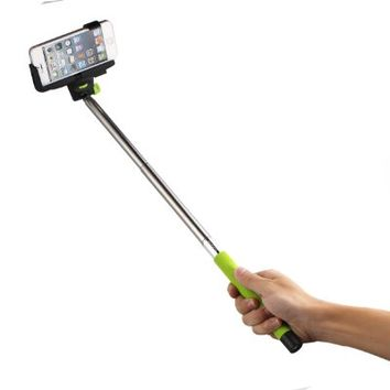 InnoGear® Selfie Stick with Bluetooth Remote Button Shutter Extendable Self Portraits Pole Handheld Monopod for Samsung Galaxy Note 3 2 S5 S4 S3 iPhone 6 6 Plus 5 5S 5C 4 4S (Green)