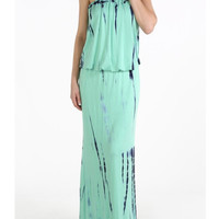 Minty Tie Dye Maxi Dress | The Handmade Hustle