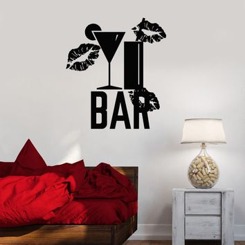 Vinyl Decal Bar Alcohol Cocktail Party Night Club Wall Sticker Mural Unique Gift (ig2656)