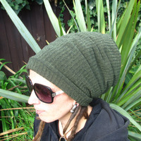 BIG Fat Dread Hat in forest green