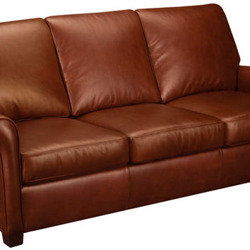 Prince Leather Sleeper Sofa Queen Bed with Pocket-Coils