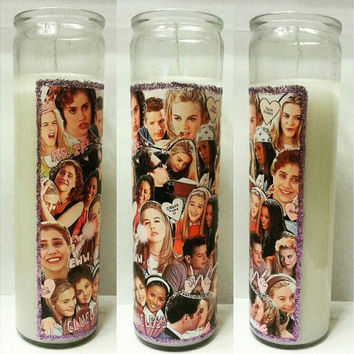 90's Clueless Collage Candle