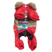 Factory Price! Large Puppy Winter Fleece Jumpsuit Clothes Pets Dogs Coats Warm Outwear Outfit Costume