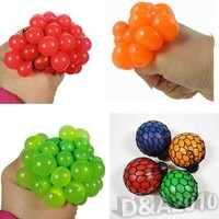 New Novelty Squeezing Toys Stress Relief Squeeze Ball Venting Ball Grape Shape