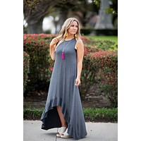 All Ruffled Up Dress - Gray