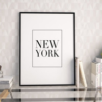 NEW YORK CITY,Office Decor,Modern Home Decor,office Sign,Wall Art,Typography Print,Quote Prints,Typography Wall Art,Digital Print,Instant