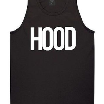 KINGS OF NY HOOD TANK TOP T SHIRT BY TRILL BOLD FONT  NEW YORK BEEN BLACK OUT