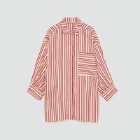 OVERSIZED STRIPED SHIRTDETAILS