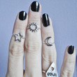 Sun Midi above the knuckle ring Ships in 1-2 weeks