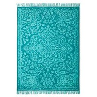 Hand Woven Printed Pattern Rug - Boho Boutique