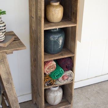 Recycled Wood Tall Shelf