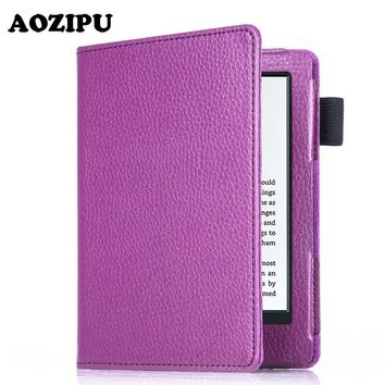 """For New Kindle 2016 8th Generation Ebook 6"""" PU Leather Litchi Texture Cover Case For 2016 New Kindle 8th 6inch"""