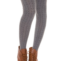 Amadee Thigh High Socks - Grey