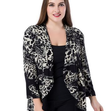 Chicwe Plus Size Women's Waterfall Open Front Jacket