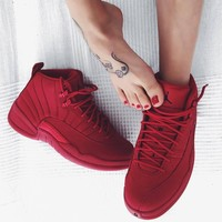 "Air Jordan 12 GS ""Bulls"" Gym Red - Best Deal Online"