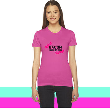 Bacon- Duct tape of food - Vector women T-shirt