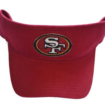 Youth San Francisco 49ers Red Visor Hat - SF NFL Child Baseball Golf Cap
