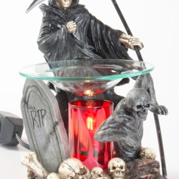 RIP Grim Reaper Table Fragrance Aroma Lamp Oil Diffuser Wax Tart Candle Warmer Burner Home Decor