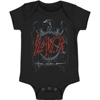 Slayer Boys' Black Eagle Bodysuit Black