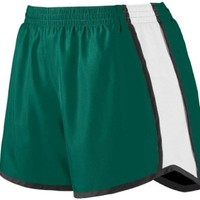 Augusta Sportswear WOMEN'S JUNIOR FIT PULSE TEAM SHORT M Dark Green/White/Black