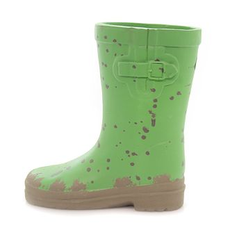 Home & Garden GREEN RAIN BOOT PLANTER Flower Spring Summer Wellies Rh454