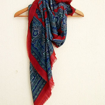 XL Nomad Scarf, Steel Blue Gray Scarf, Extra Large Scarf, Cotton Scarf, Large Scarf, Cotton Gauze Scarf