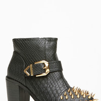 Liliana Studded Toe Ankle Booties