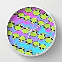 Alien Wall Clock by The Fifth Motion | Society6