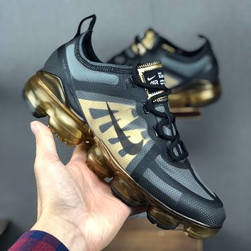 "Nike Air VaporMax 2019 ""Black Metallic Gold"" Men Running Shoes - Best Deal Online"