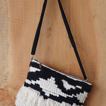 Crochet Clutch in Black