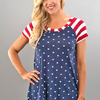 Fourth of July Short Sleeve Top