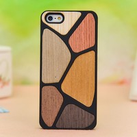 Six Color Puzzle Colorful Wooden Ca.. on Luulla