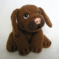 Pdf Crochet pattern LITTLE BROWN PUP