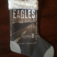 THE EAGLES - Upcycled Rock Band T-shirt Christmas Stocking - OOAk