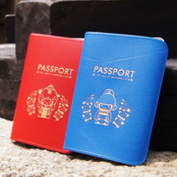 Korean Groom & Bride Passport Case