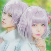 Lolita Purple Cosplay Short Hair Wig SP166226